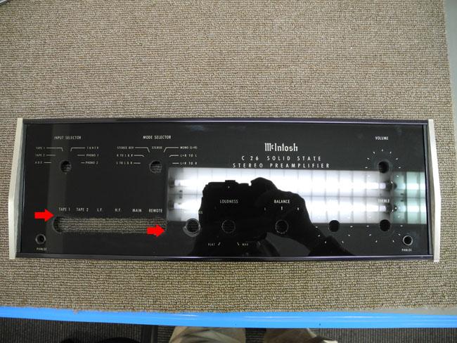 マッキントッシュMC2105 フロントパネル修理7